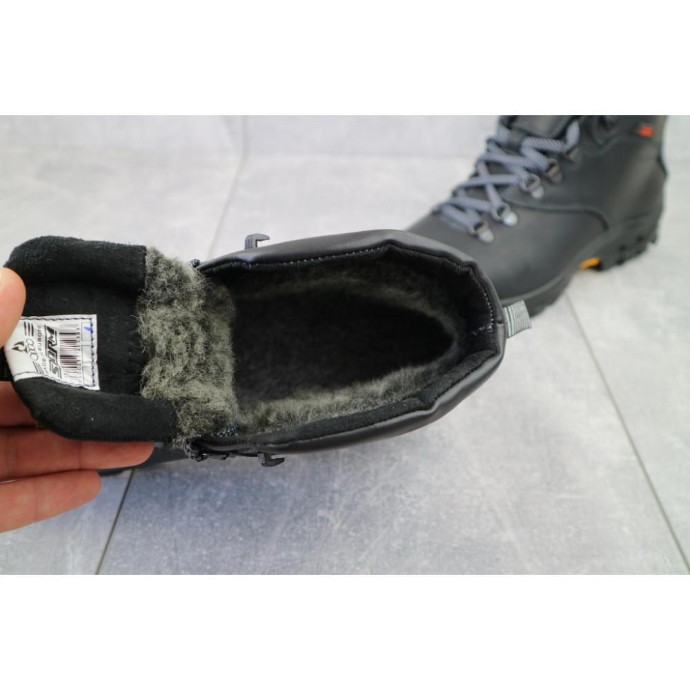 Мужские ботинки зимние - Мужские ботинки кожаные зимние черные Storm RZ- W 2