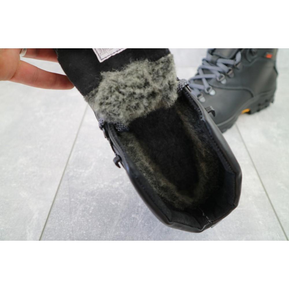 Мужские ботинки зимние - Мужские ботинки кожаные зимние черные Storm RZ- W 1