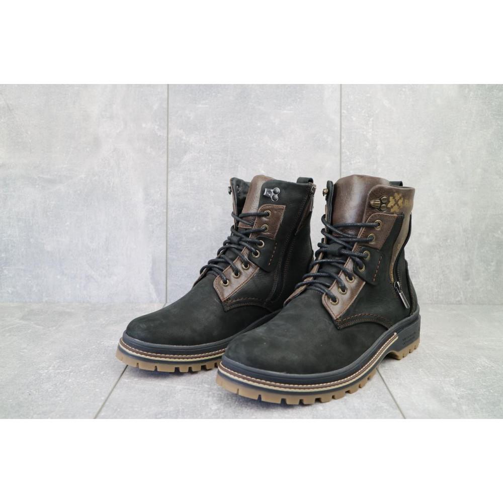 Мужские ботинки зимние - Мужские ботинки кожаные зимние черные-коричневые Barzoni 210 2