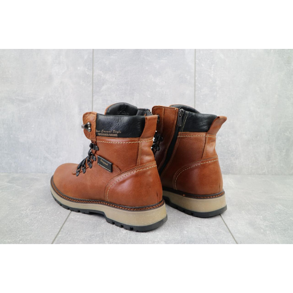 Мужские ботинки зимние - Ботинки мужские Zangak 139 рыж-крек  (натуральная кожа, зима) 4