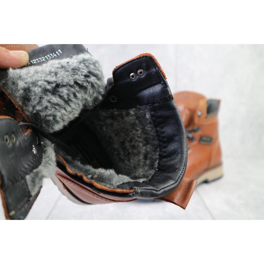 Мужские ботинки зимние - Ботинки мужские Zangak 139 рыж-крек  (натуральная кожа, зима) 3
