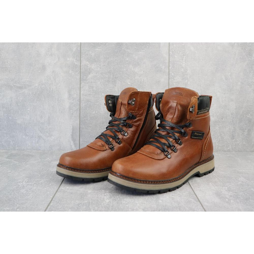 Мужские ботинки зимние - Ботинки мужские Zangak 139 рыж-крек  (натуральная кожа, зима) 2
