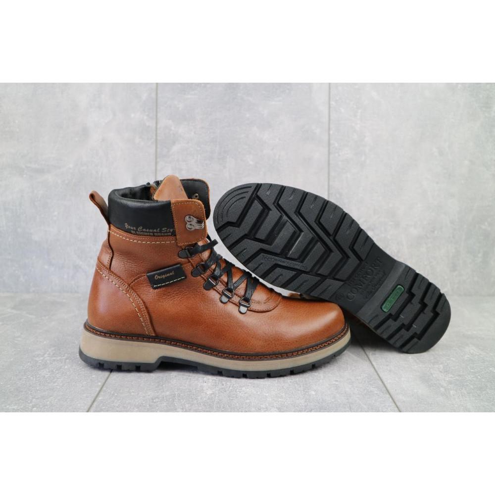 Мужские ботинки зимние - Ботинки мужские Zangak 139 рыж-крек  (натуральная кожа, зима) 5