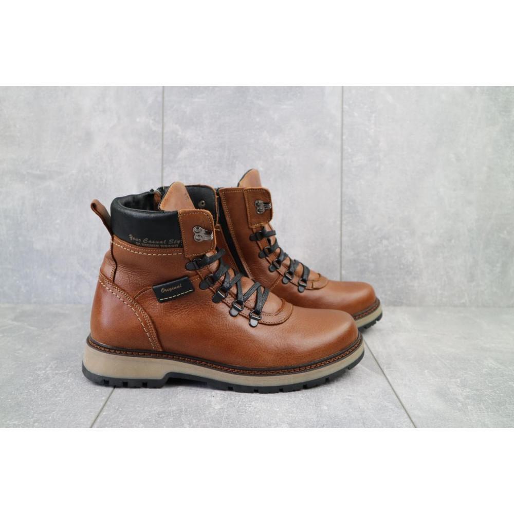 Мужские ботинки зимние - Ботинки мужские Zangak 139 рыж-крек  (натуральная кожа, зима) 1