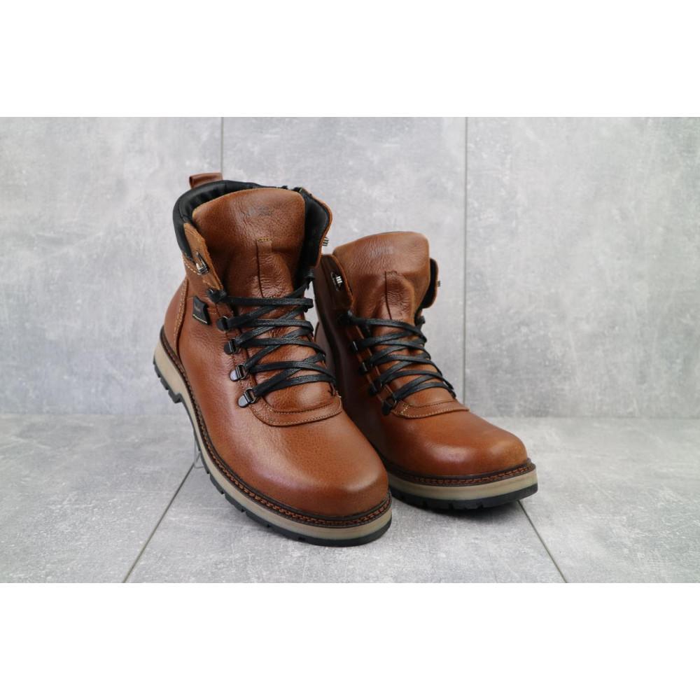 Мужские ботинки зимние - Ботинки мужские Zangak 139 рыж-крек  (натуральная кожа, зима)