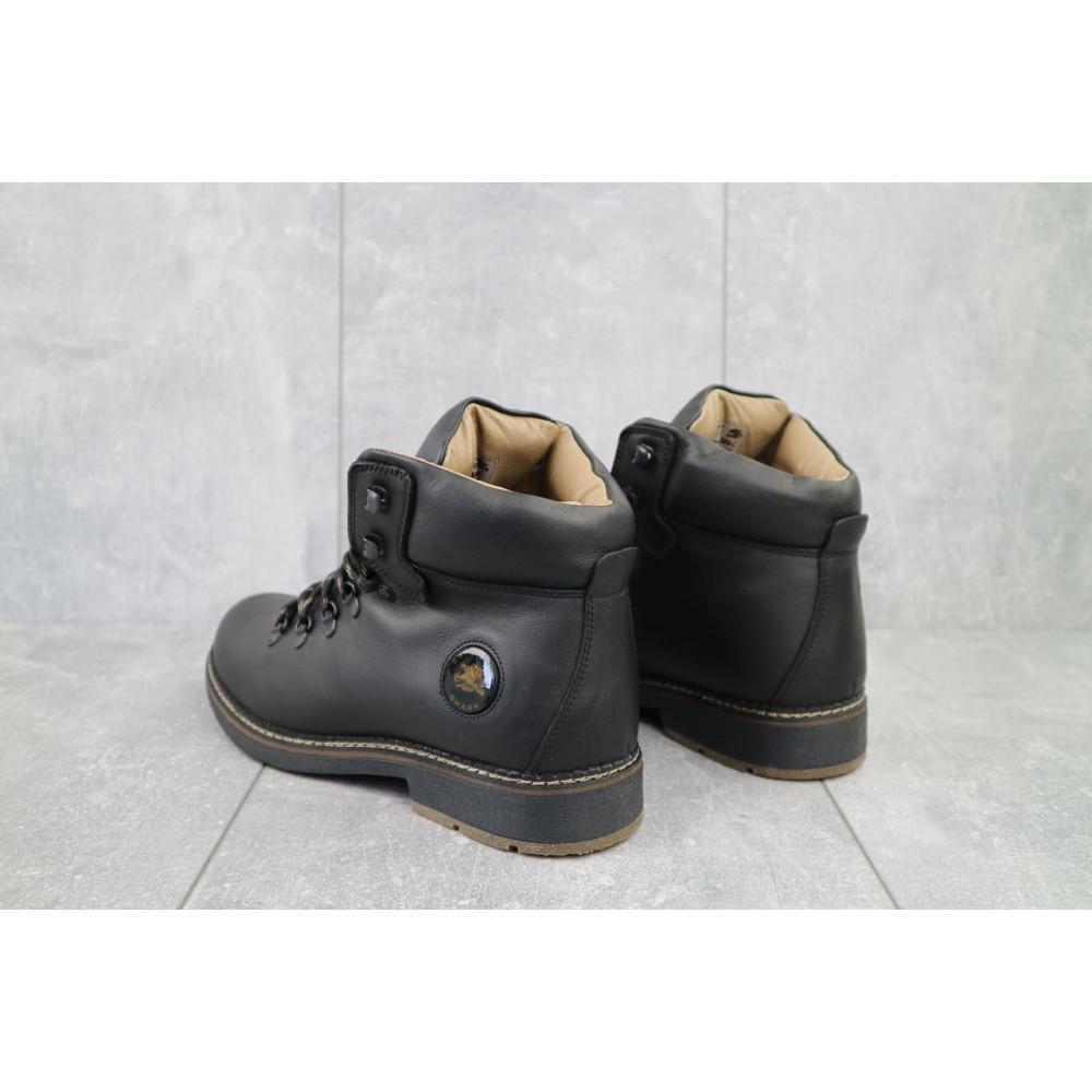 Мужские ботинки зимние - Мужские ботинки кожаные зимние черные Shark B150 4