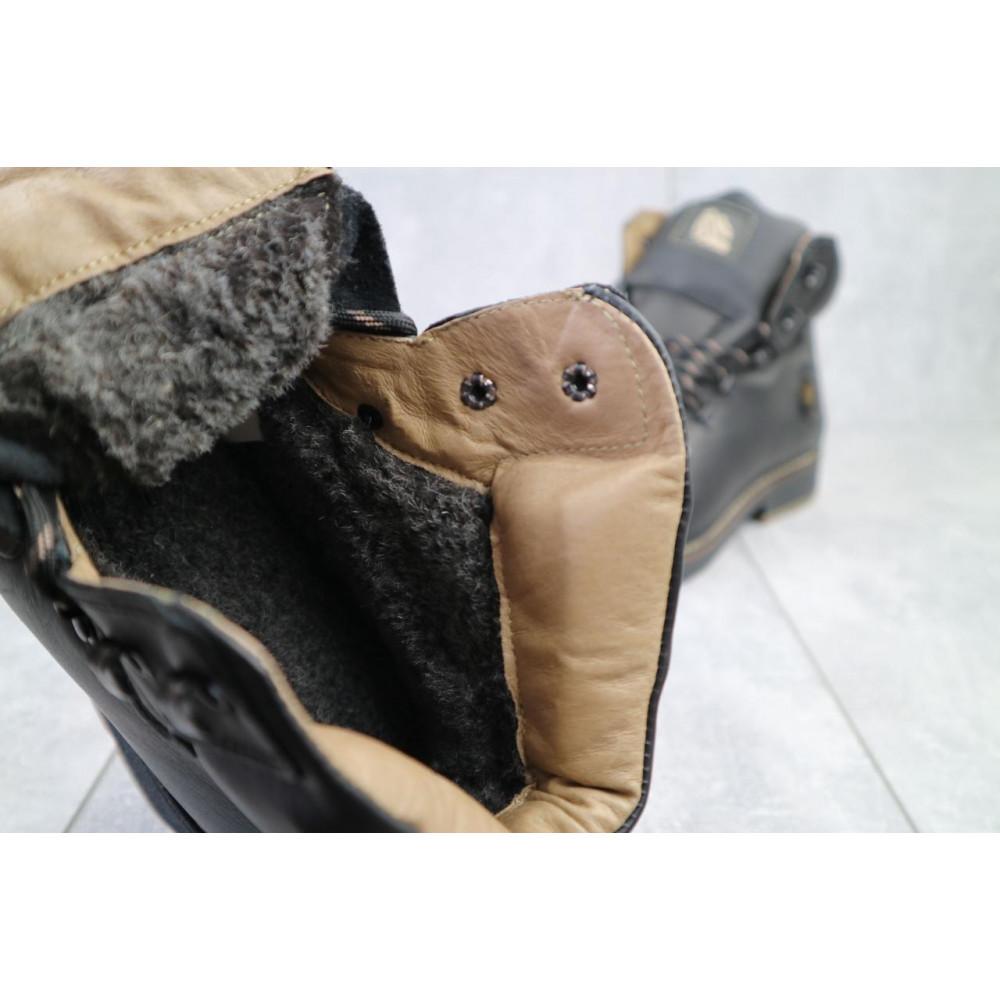 Мужские ботинки зимние - Мужские ботинки кожаные зимние черные Shark B150 3