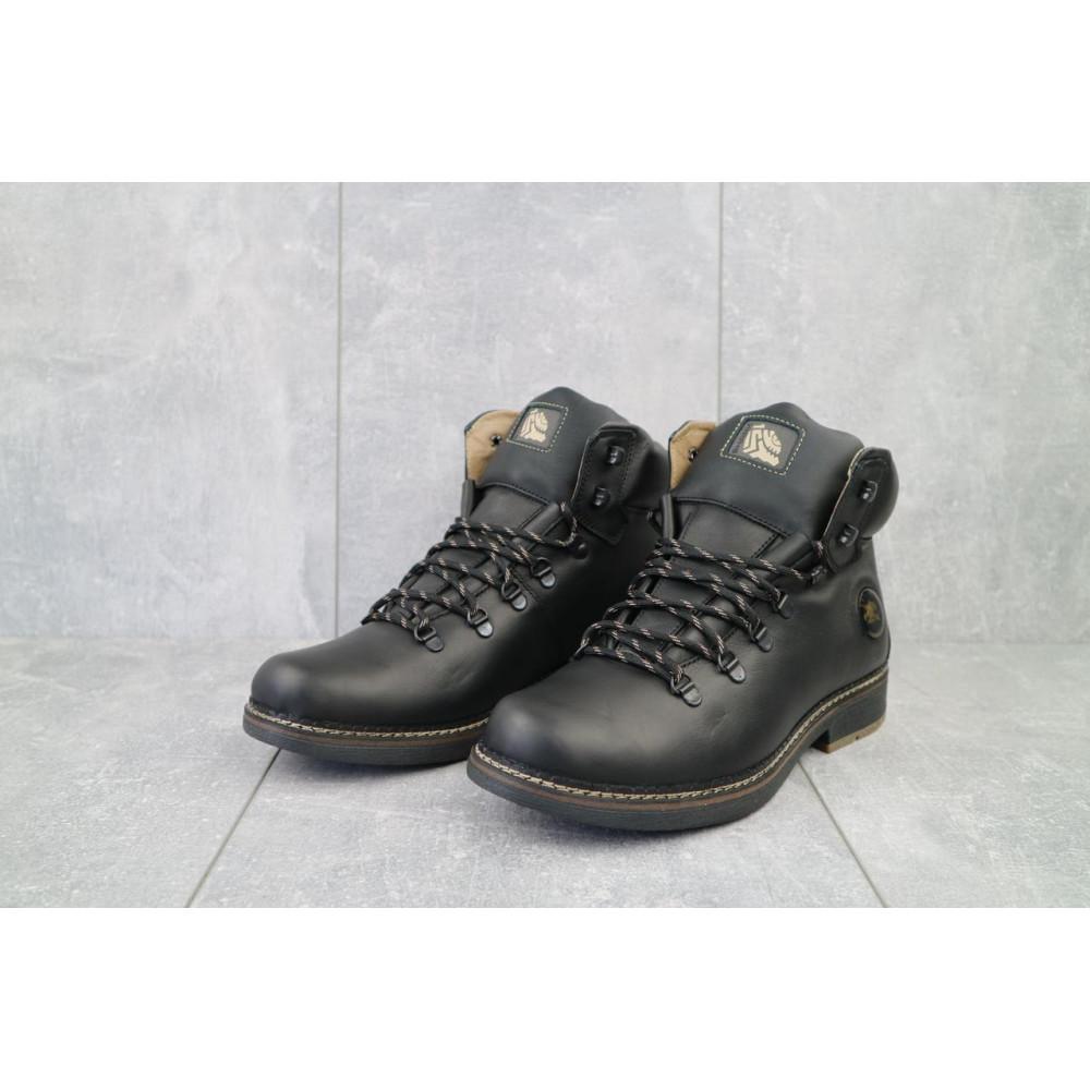 Мужские ботинки зимние - Мужские ботинки кожаные зимние черные Shark B150 2