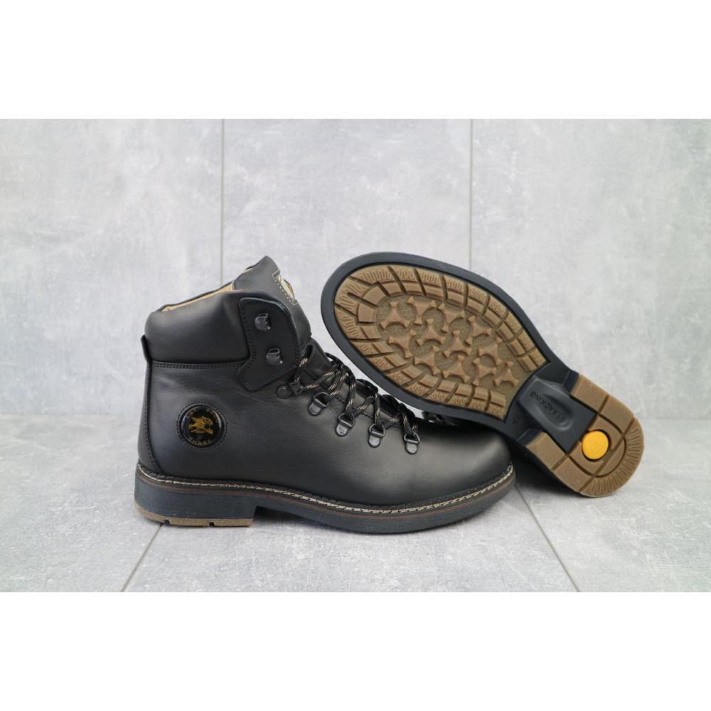 Мужские ботинки зимние - Мужские ботинки кожаные зимние черные Shark B150 5