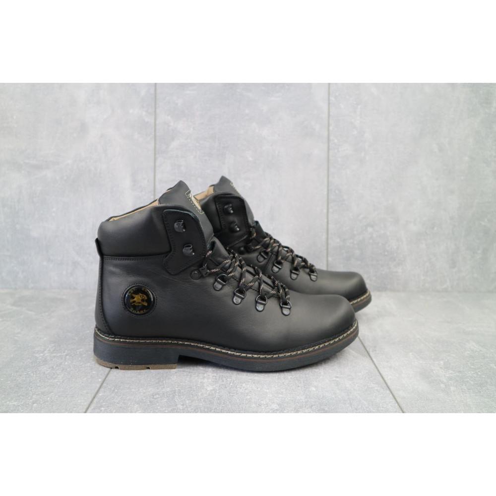 Мужские ботинки зимние - Мужские ботинки кожаные зимние черные Shark B150 1