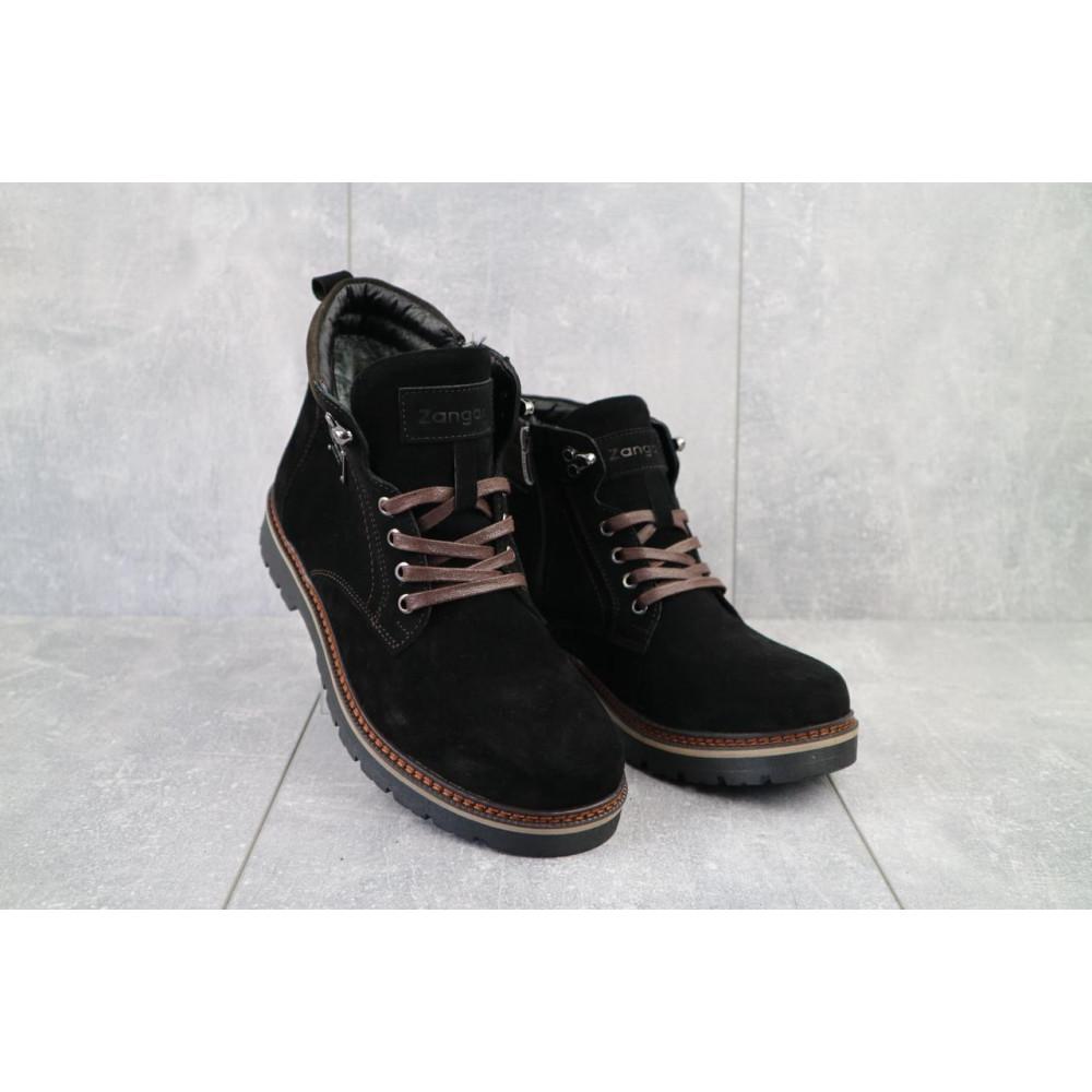 Мужские ботинки зимние - Мужские ботинки кожаные зимние черные Zangak 940 ч-з