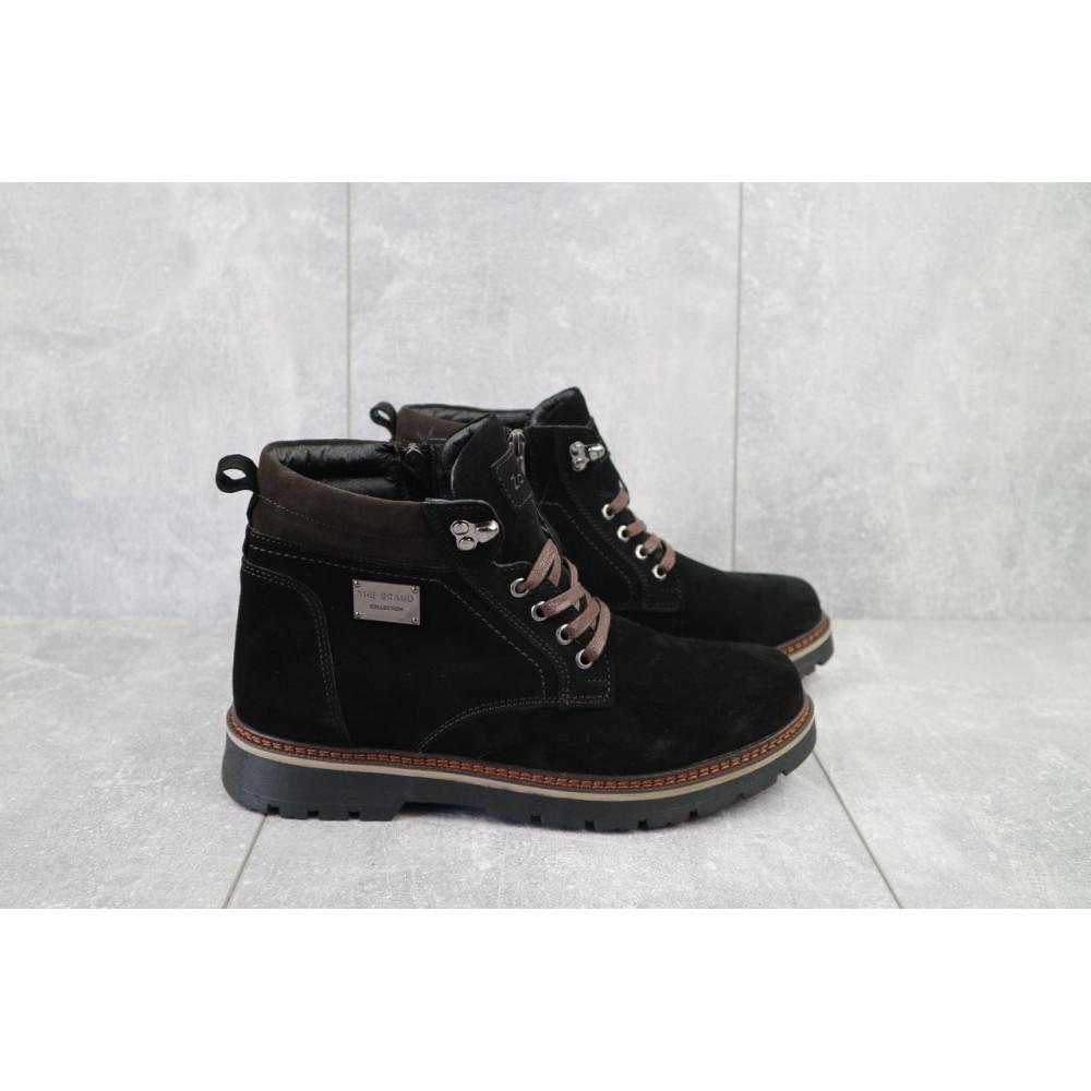 Мужские ботинки зимние - Мужские ботинки кожаные зимние черные Zangak 940 ч-з 5