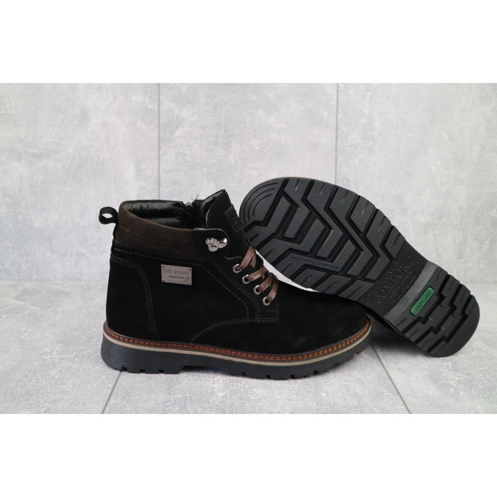 Мужские ботинки зимние - Мужские ботинки кожаные зимние черные Zangak 940 ч-з 4