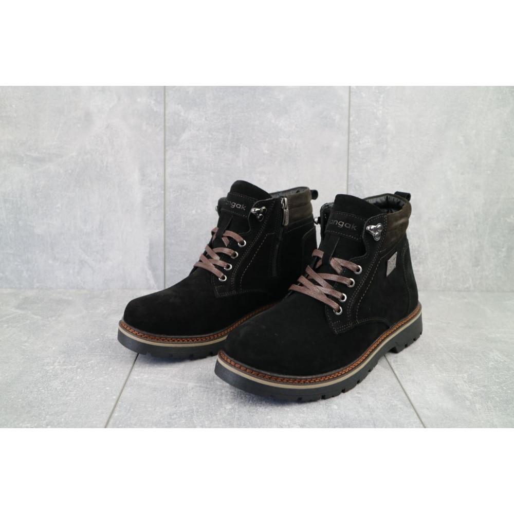 Мужские ботинки зимние - Мужские ботинки кожаные зимние черные Zangak 940 ч-з 3