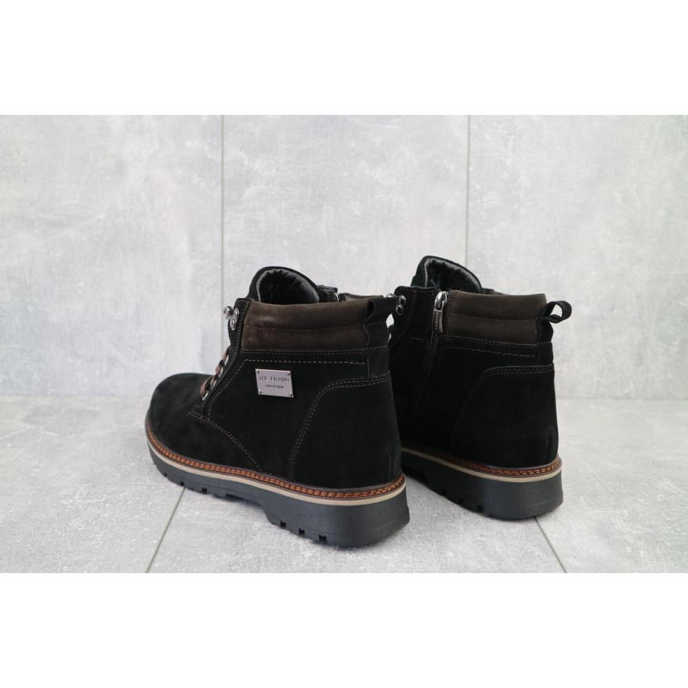 Мужские ботинки зимние - Мужские ботинки кожаные зимние черные Zangak 940 ч-з 2