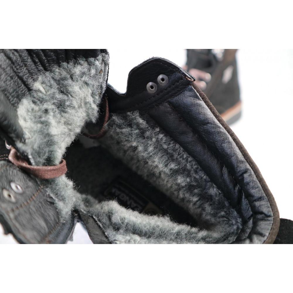 Мужские ботинки зимние - Мужские ботинки кожаные зимние черные Zangak 940 ч-з 1