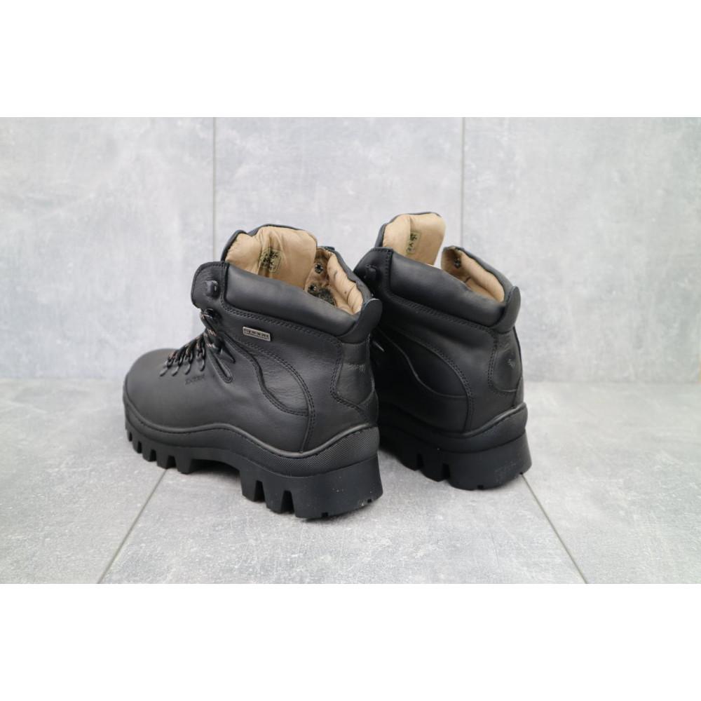 Мужские ботинки зимние - Мужские ботинки кожаные зимние черные Shark B157 4