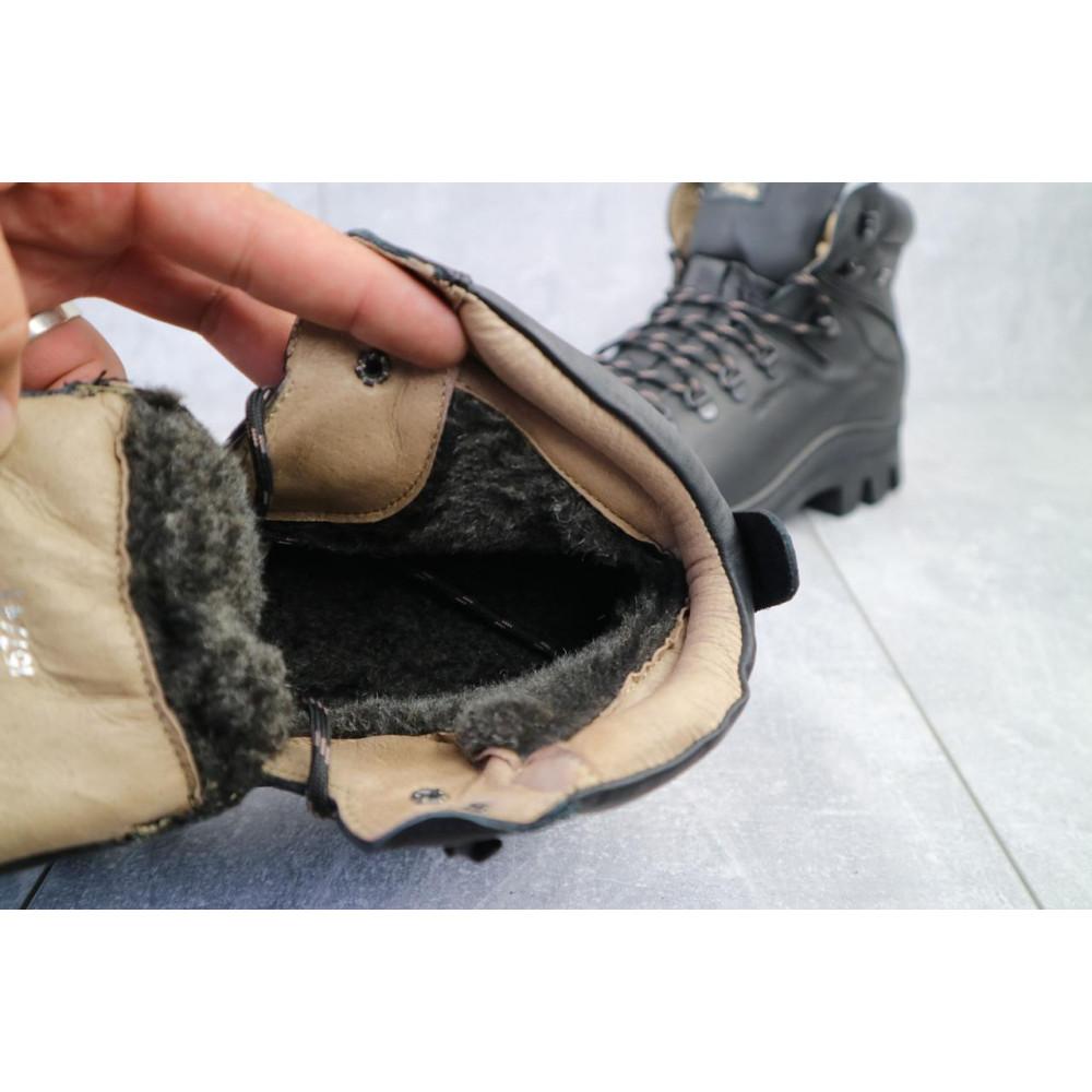 Мужские ботинки зимние - Мужские ботинки кожаные зимние черные Shark B157 3
