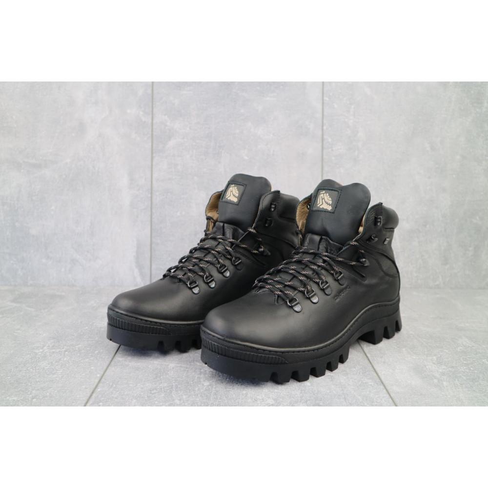 Мужские ботинки зимние - Мужские ботинки кожаные зимние черные Shark B157 2