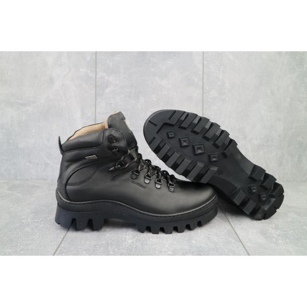 Мужские ботинки зимние - Мужские ботинки кожаные зимние черные Shark B157 1