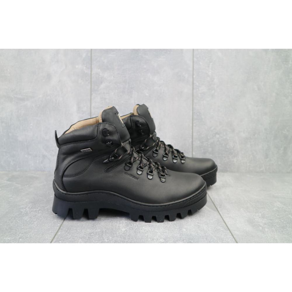 Мужские ботинки зимние - Мужские ботинки кожаные зимние черные Shark B157 5