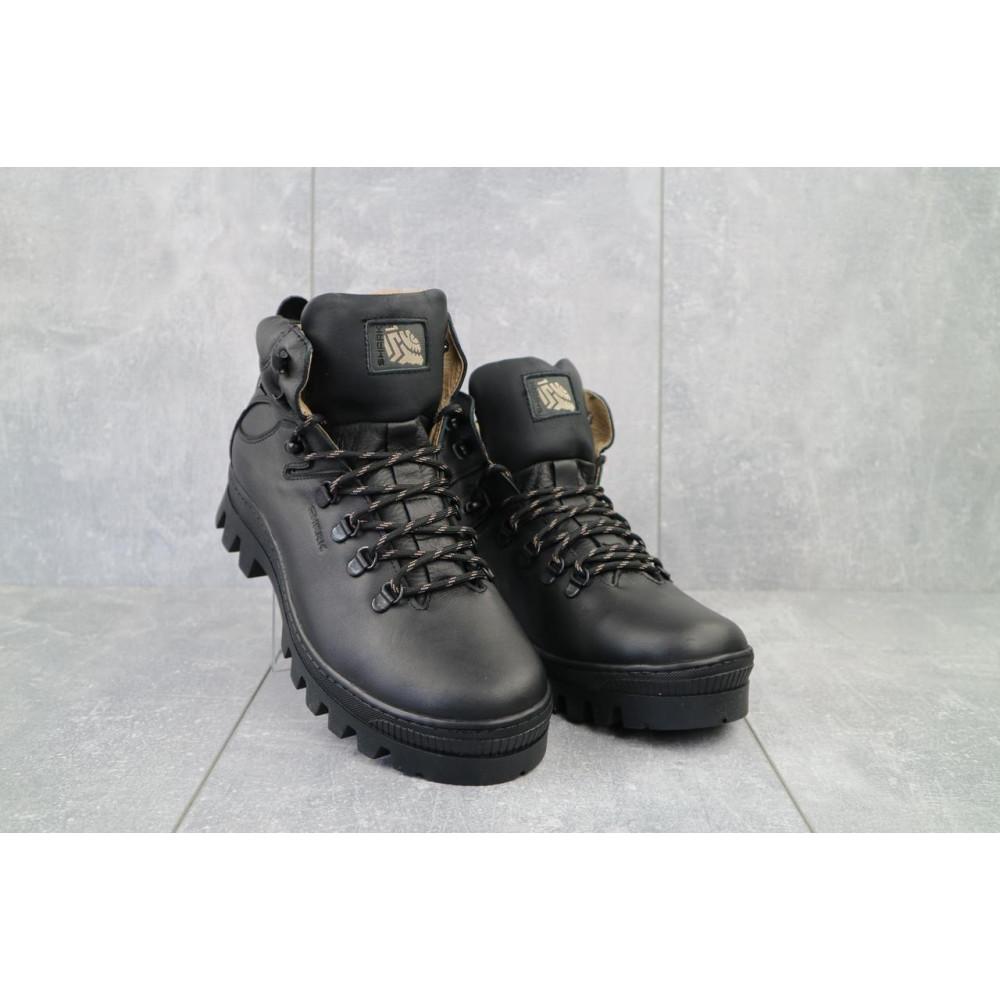 Мужские ботинки зимние - Мужские ботинки кожаные зимние черные Shark B157
