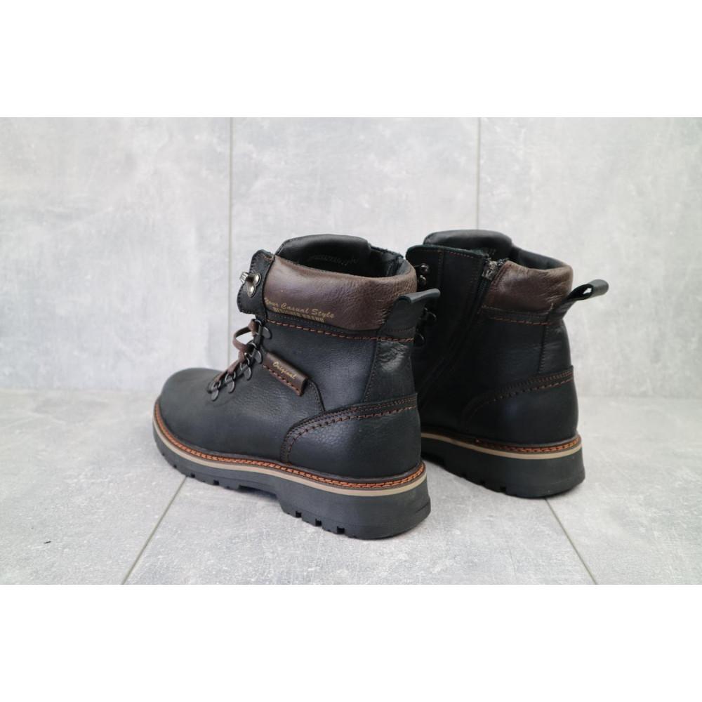 Мужские ботинки зимние - Мужские ботинки кожаные зимние черные Zangak 139 ч-крек 4