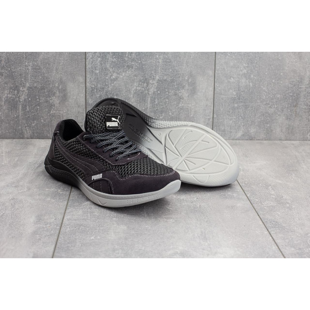 Летние кроссовки мужские - Мужские кроссовки текстильные летние черные-серые CrosSAV 51 3