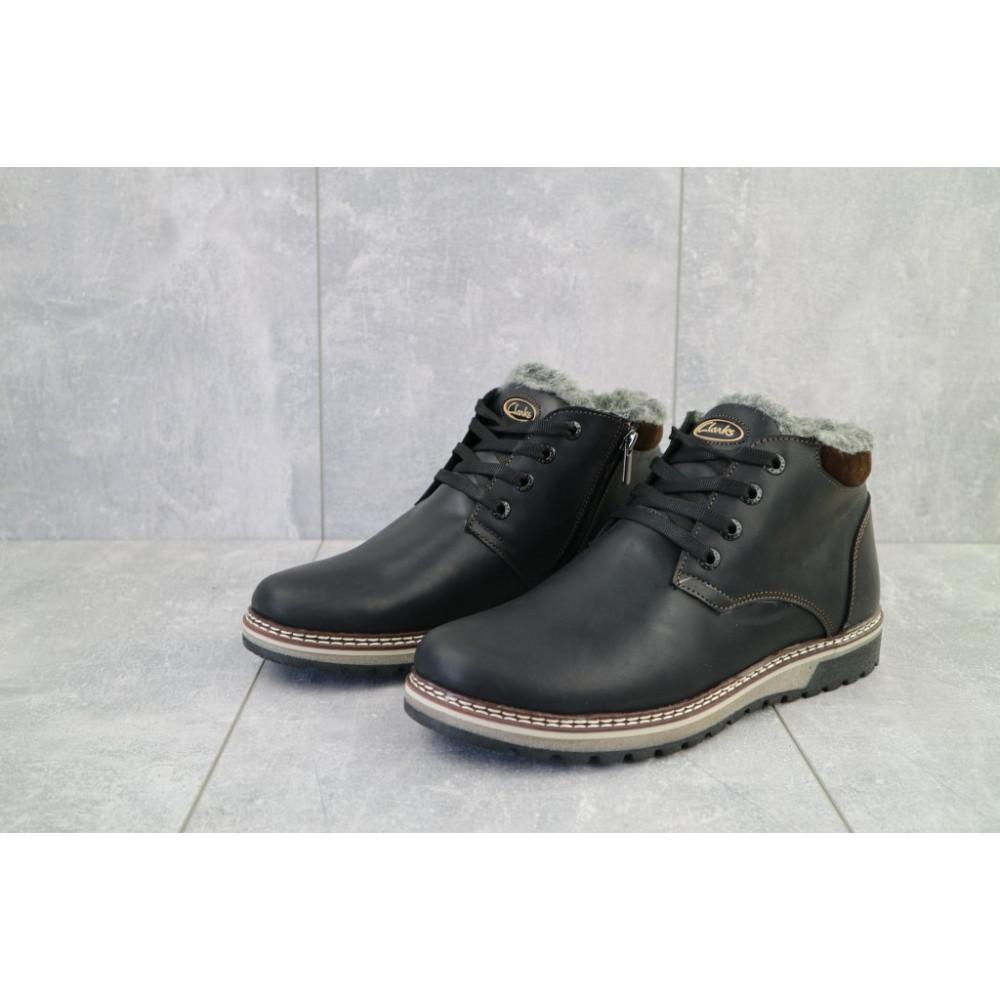 Мужские ботинки зимние - Мужские ботинки кожаные зимние черные-матовые Yuves Clas 4
