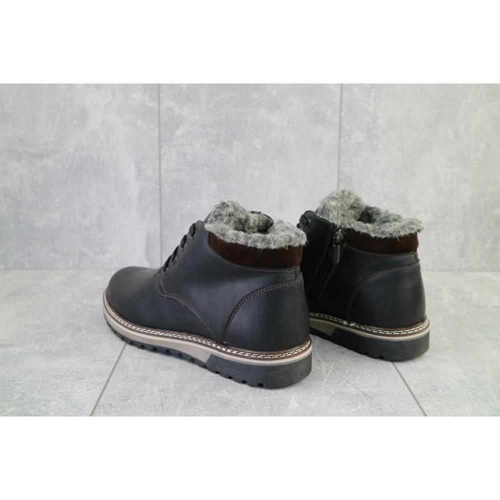 Мужские ботинки зимние - Мужские ботинки кожаные зимние черные-матовые Yuves Clas 3