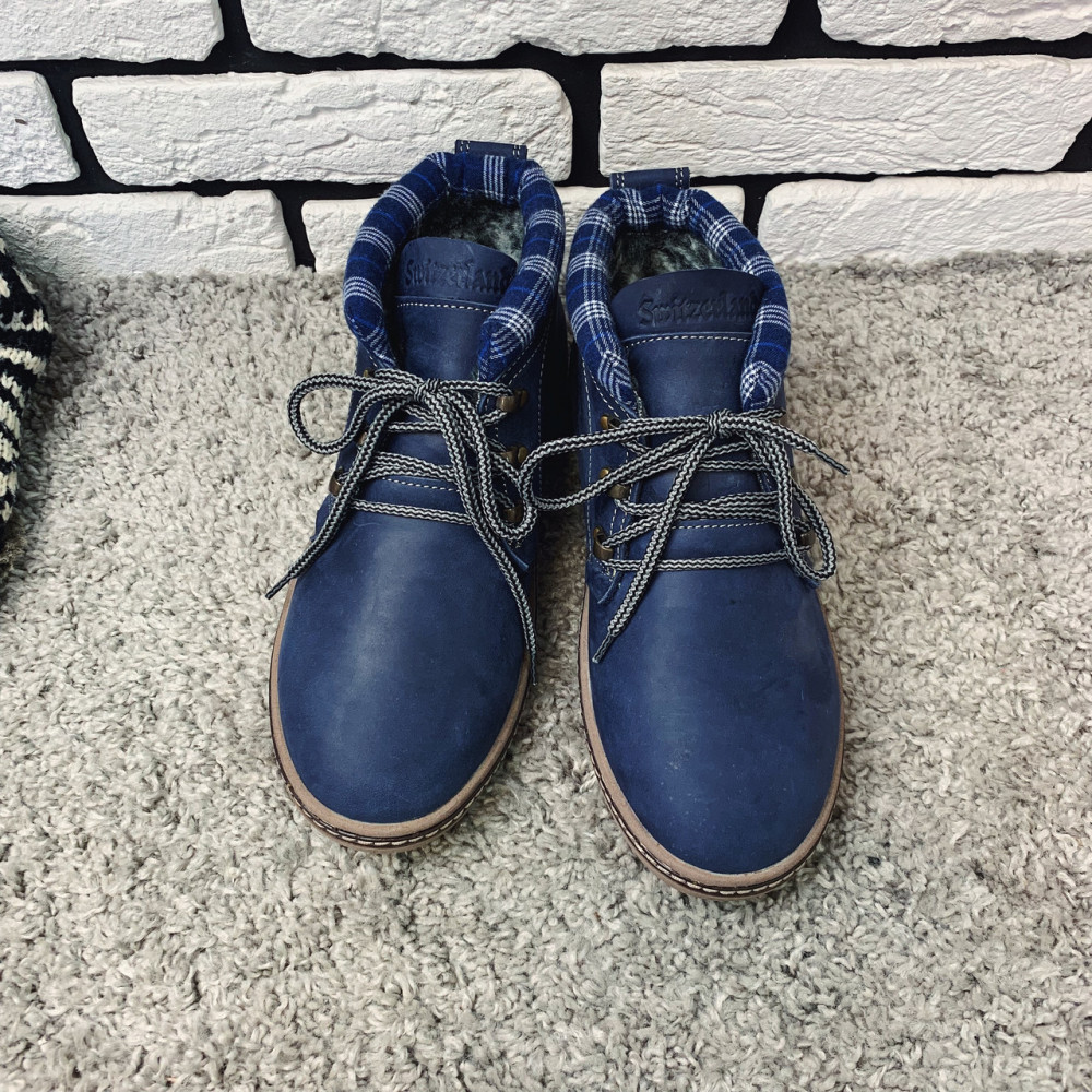 Мужские ботинки зимние - Зимние ботинки (на меху) мужские Switzerland 13030 ⏩ [ 41,42 ] 2