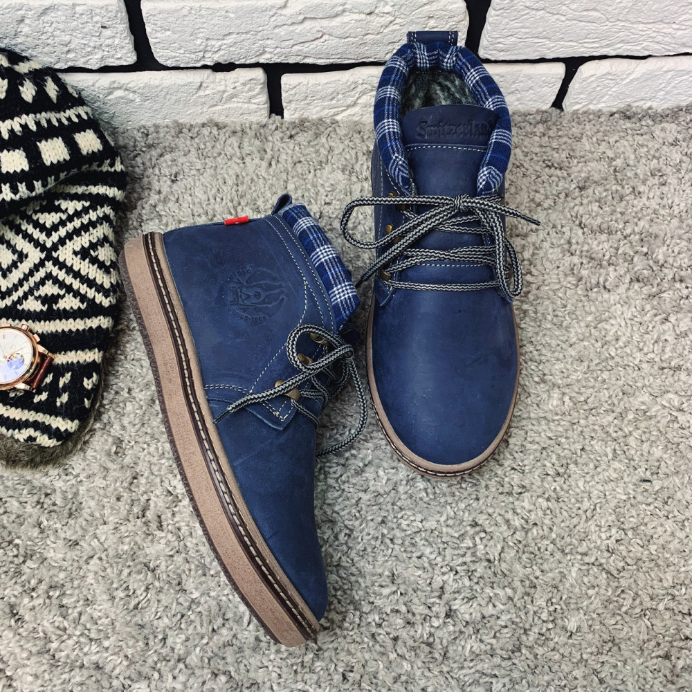 Мужские ботинки зимние - Зимние ботинки (на меху) мужские Switzerland 13030 ⏩ [ 41,42 ] 1