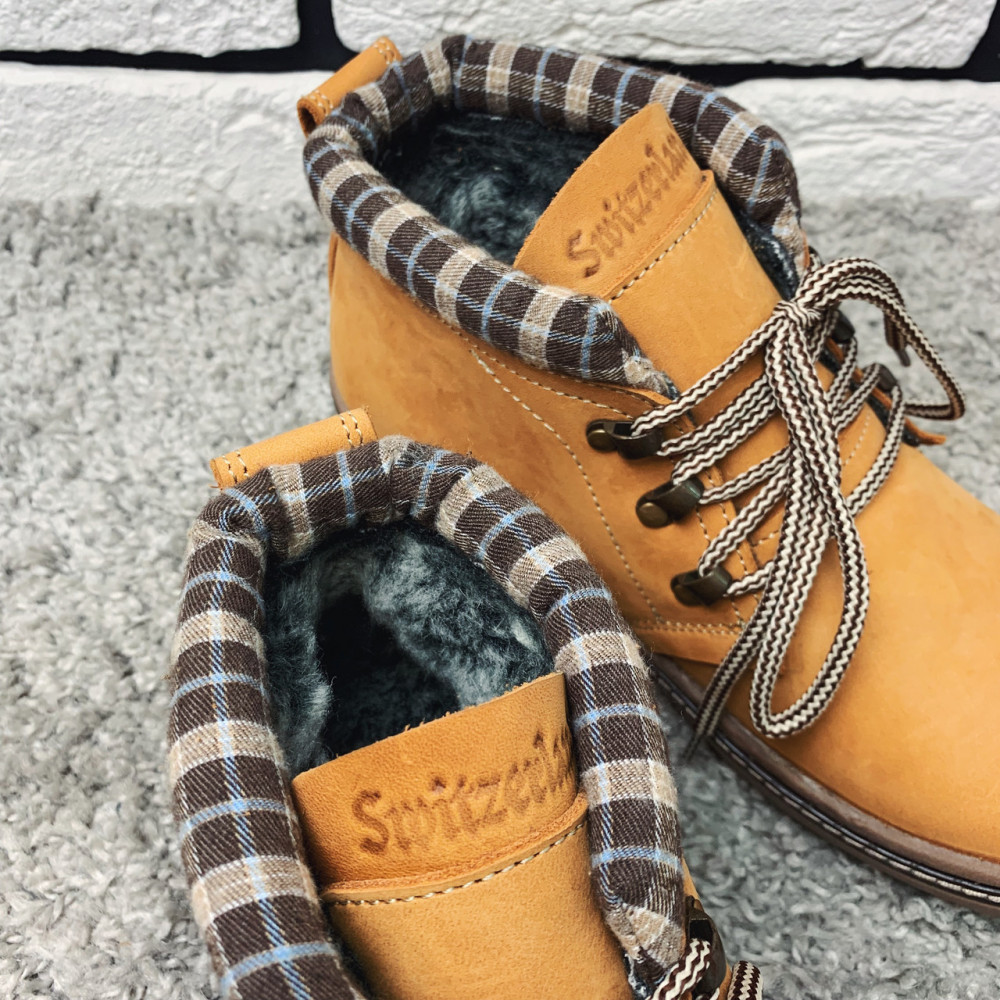Мужские ботинки зимние - Зимние ботинки (на меху) мужские Switzerland 13035 ⏩ [41,42,43,44,45] 6