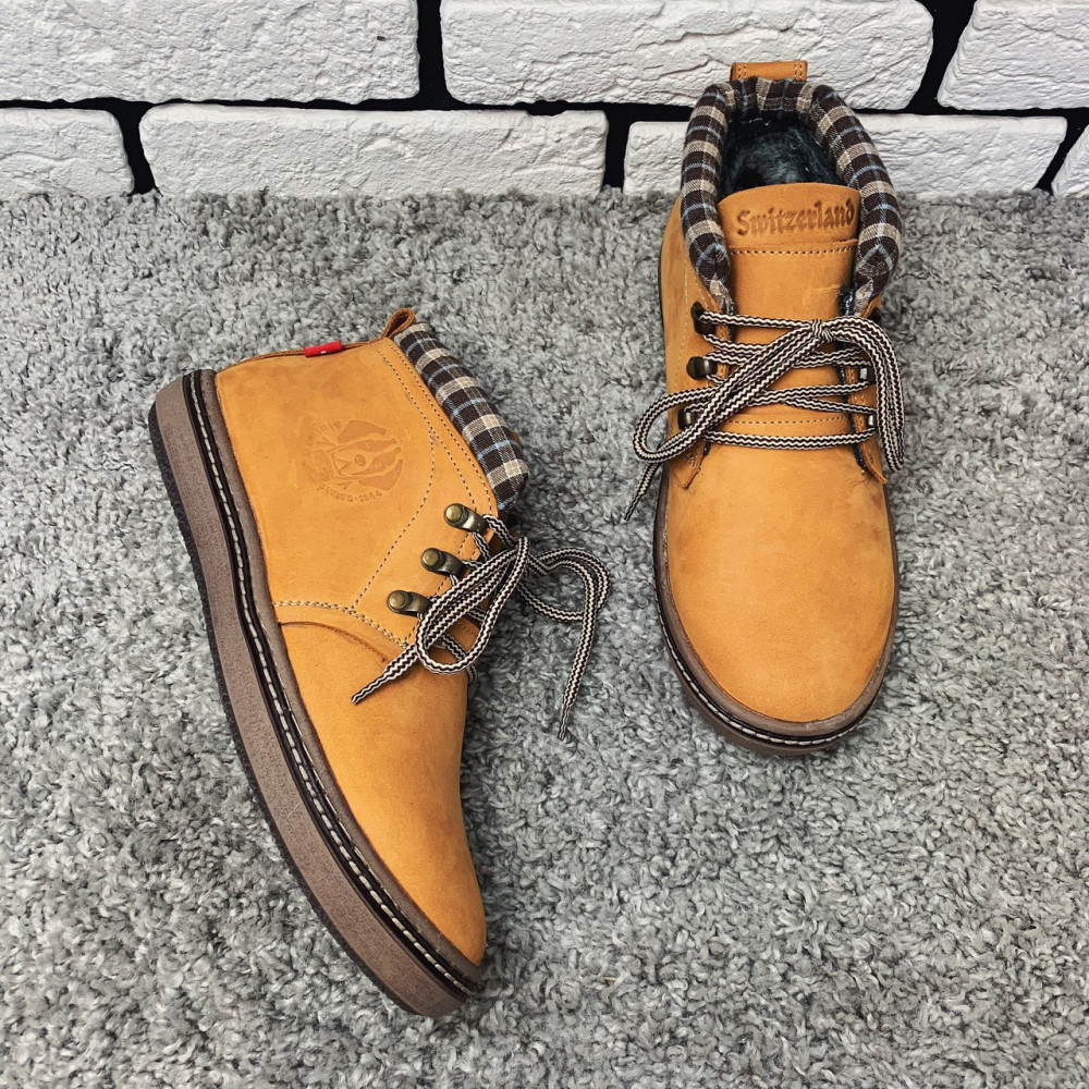 Мужские ботинки зимние - Зимние ботинки (на меху) мужские Switzerland 13035 ⏩ [41,42,43,44,45] 1