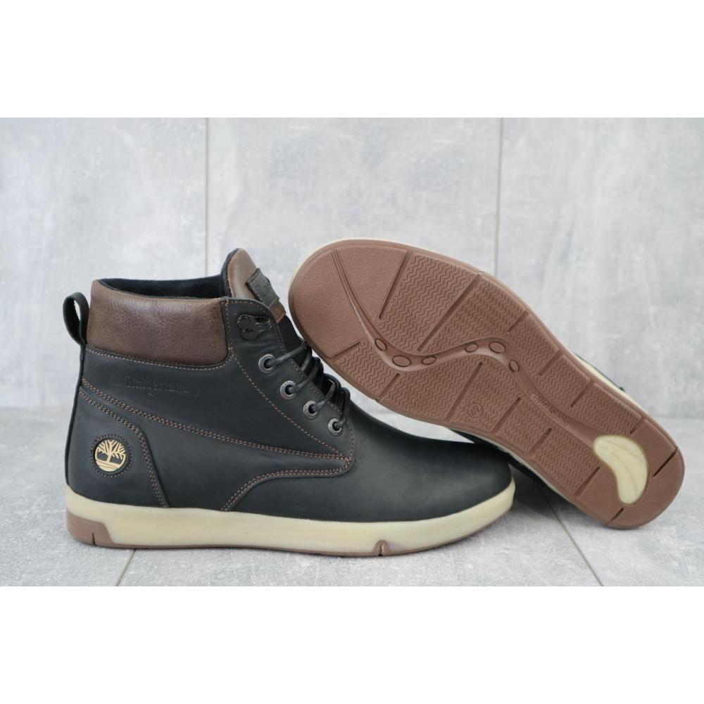 Мужские ботинки зимние - Мужские ботинки кожаные зимние черные-матовые Yuves 772 ChernMat 5