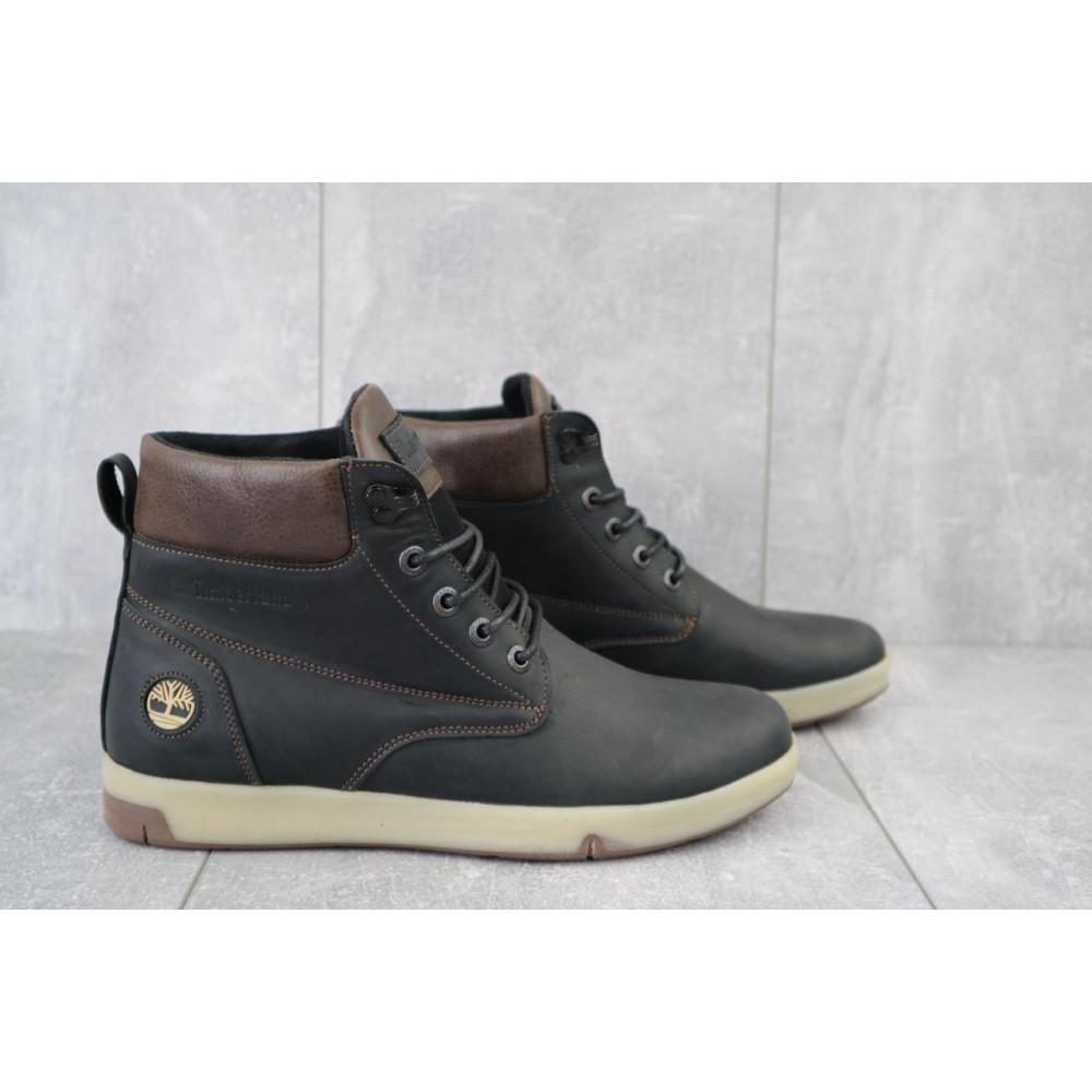 Мужские ботинки зимние - Мужские ботинки кожаные зимние черные-матовые Yuves 772 ChernMat 4