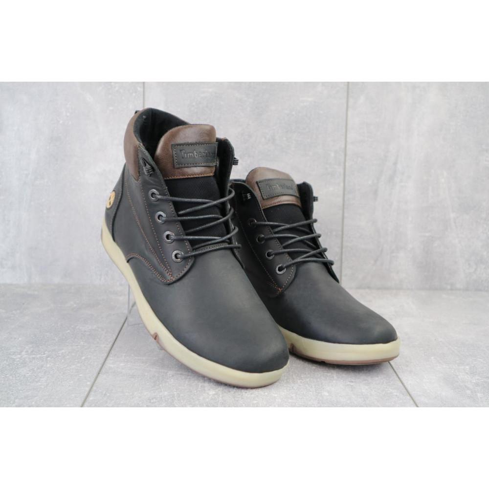 Мужские ботинки зимние - Мужские ботинки кожаные зимние черные-матовые Yuves 772 ChernMat