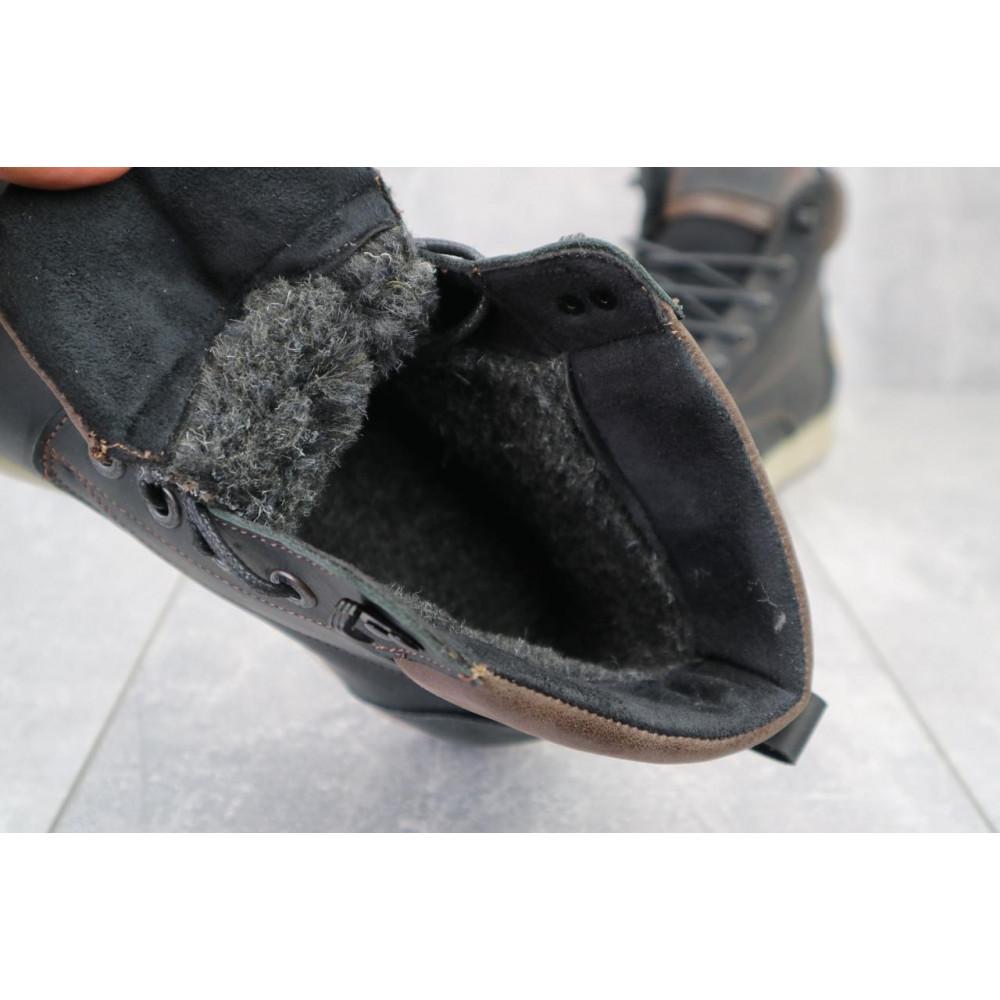Мужские ботинки зимние - Мужские ботинки кожаные зимние черные-матовые Yuves 772 ChernMat 3