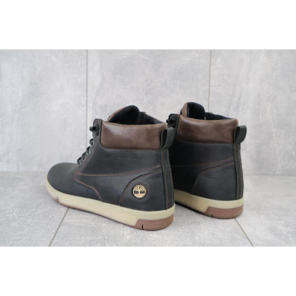 Мужские ботинки зимние - Мужские ботинки кожаные зимние черные-матовые Yuves 772 ChernMat 2