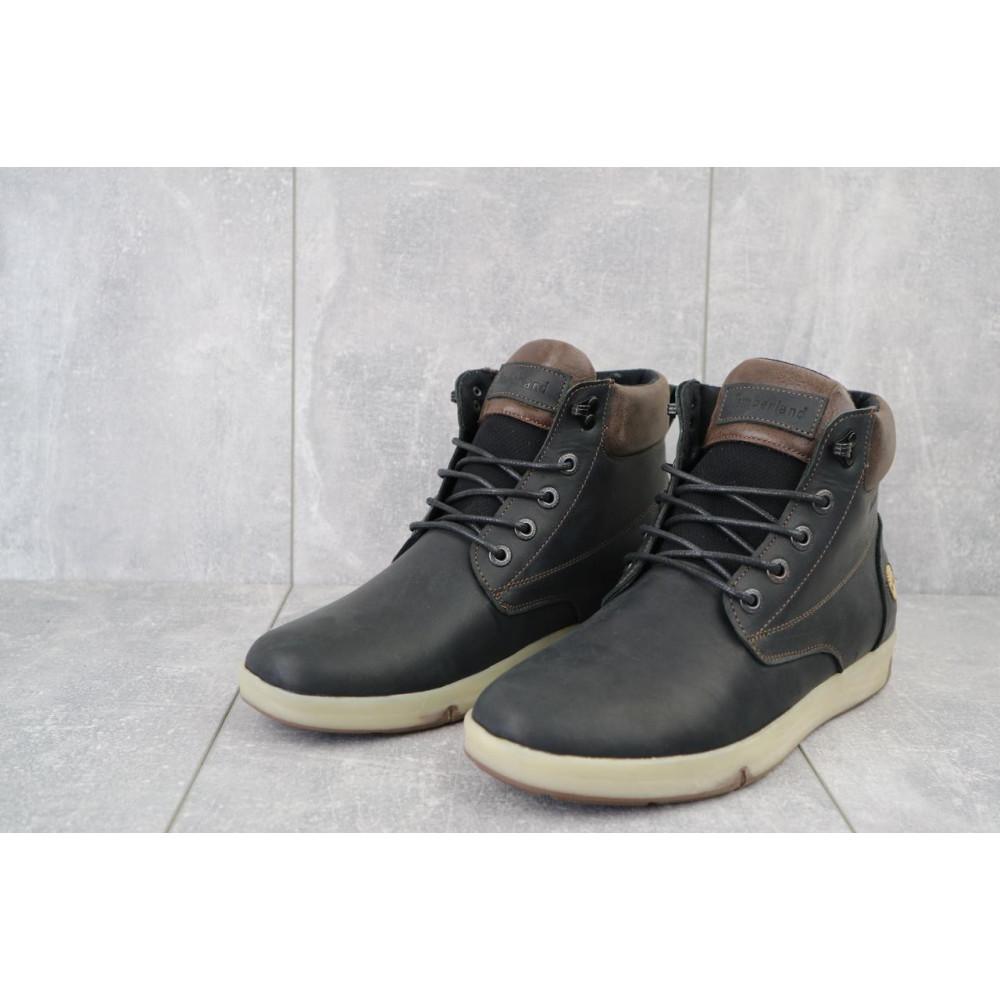 Мужские ботинки зимние - Мужские ботинки кожаные зимние черные-матовые Yuves 772 ChernMat 1