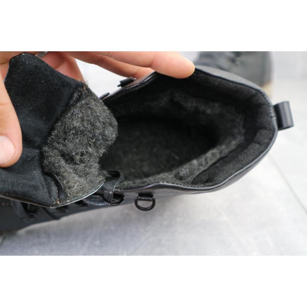 Мужские ботинки зимние - Мужские ботинки кожаные зимние черные Yuves 776 4