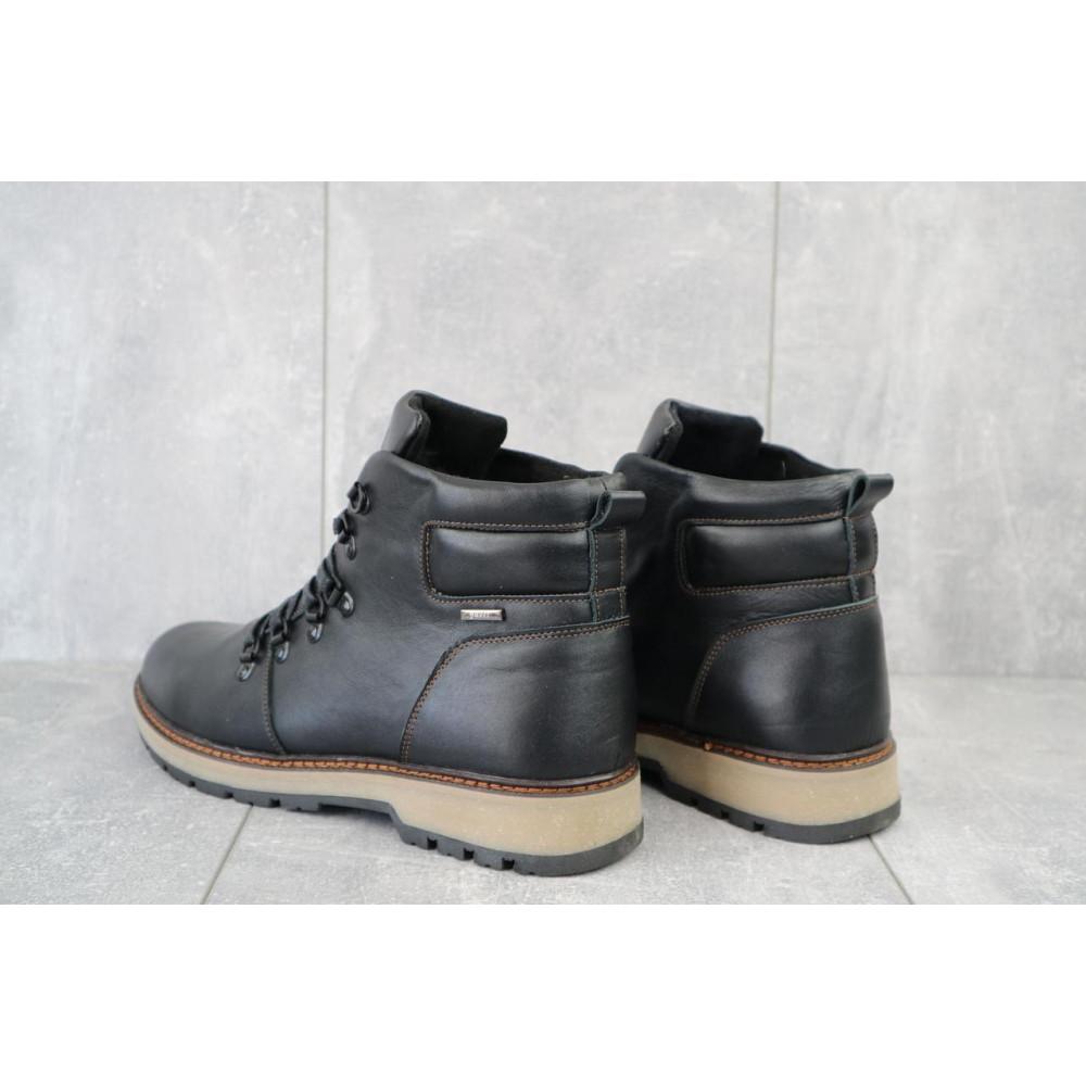 Мужские ботинки зимние - Мужские ботинки кожаные зимние черные Yuves 776 3