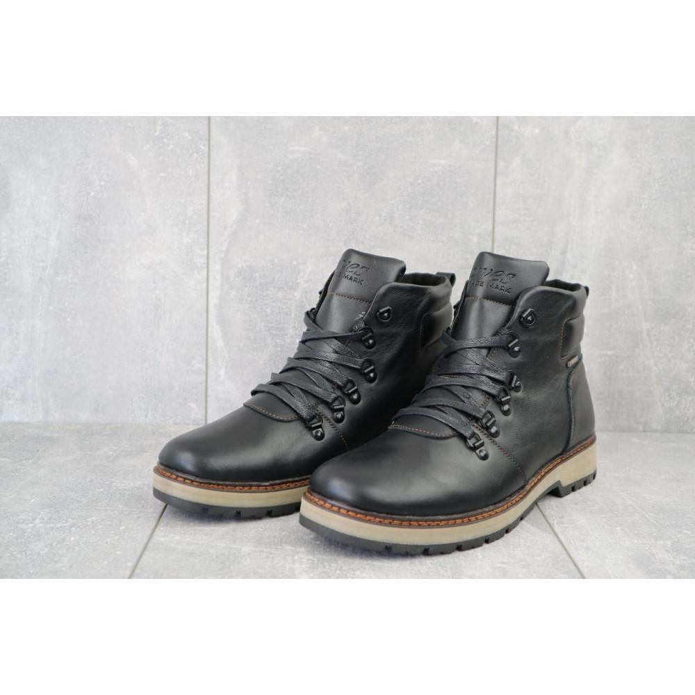 Мужские ботинки зимние - Мужские ботинки кожаные зимние черные Yuves 776 2