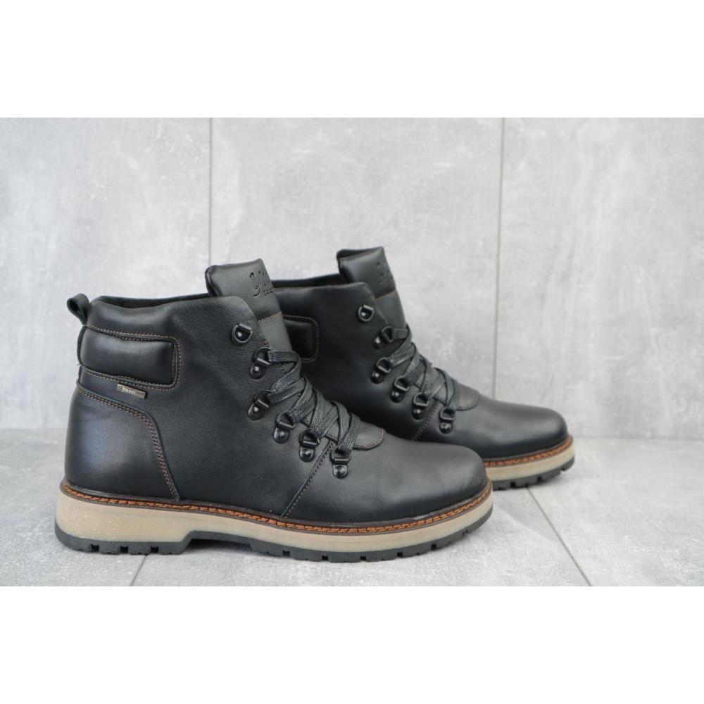 Мужские ботинки зимние - Мужские ботинки кожаные зимние черные Yuves 776 1