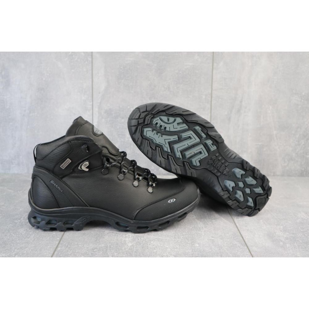 Зимние кроссовки мужские - Мужские кроссовки кожаные зимние черные Shark B 180 5