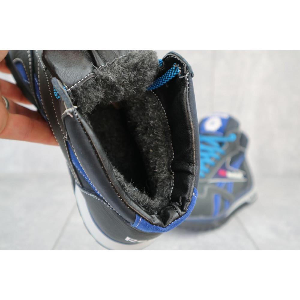 Зимние кроссовки мужские - Мужские кроссовки кожаные зимние синие-голубые CrosSAV 50 2