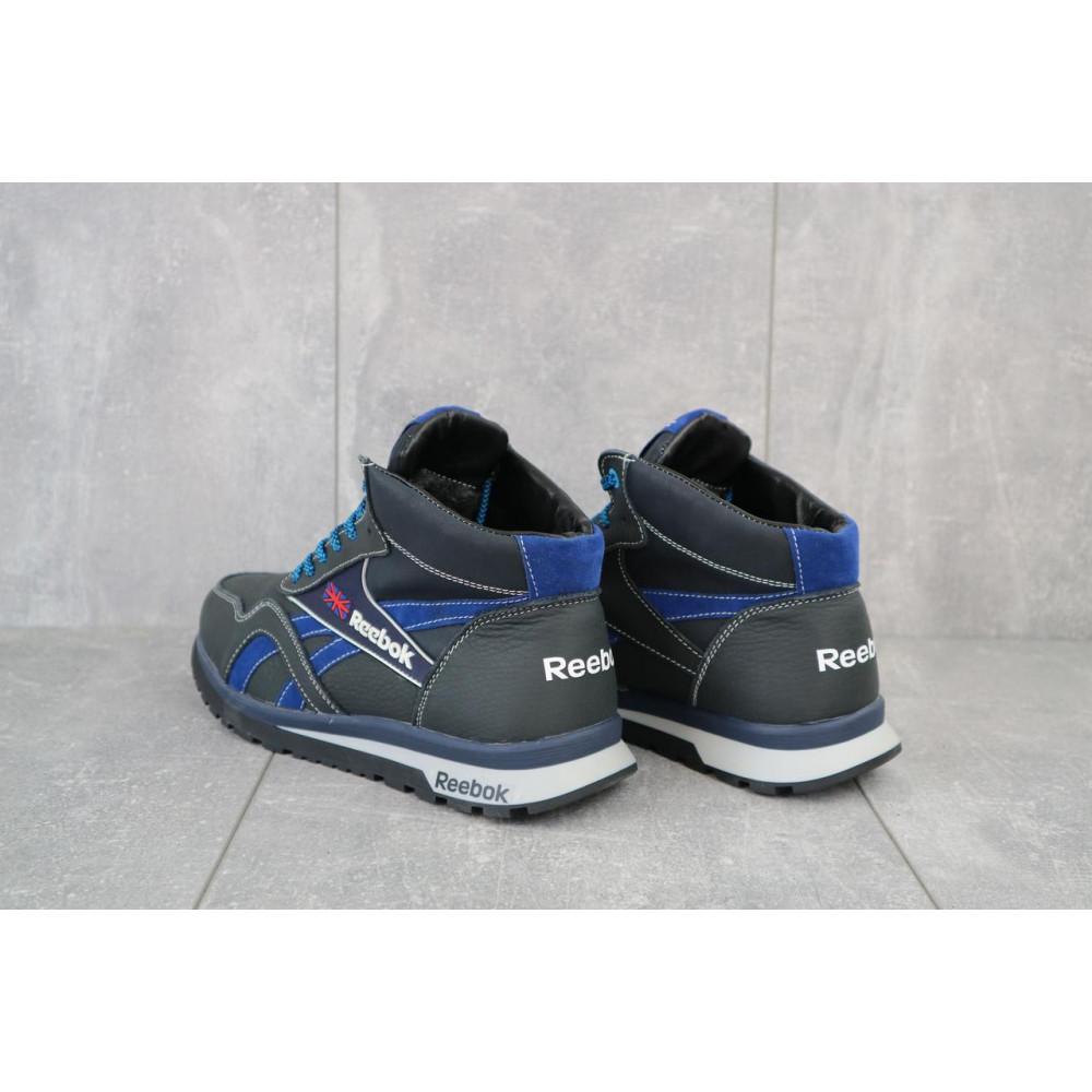 Зимние кроссовки мужские - Мужские кроссовки кожаные зимние синие-голубые CrosSAV 50 1