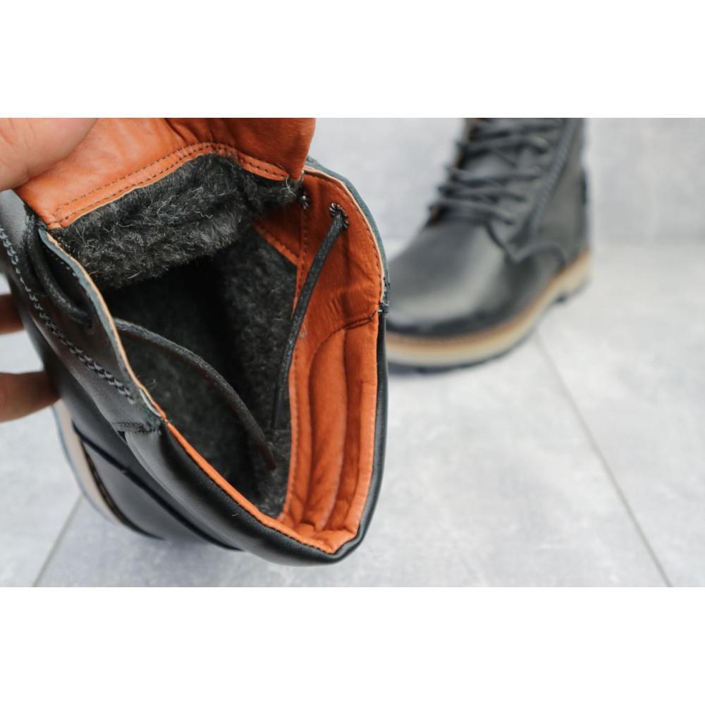 Мужские ботинки зимние - Мужские ботинки кожаные зимние черные Yuves 775 2