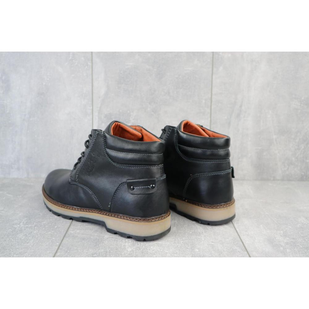 Мужские ботинки зимние - Мужские ботинки кожаные зимние черные Yuves 775 3