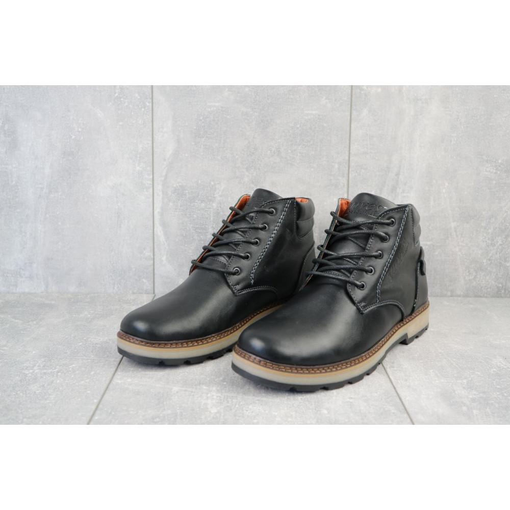 Мужские ботинки зимние - Мужские ботинки кожаные зимние черные Yuves 775 4